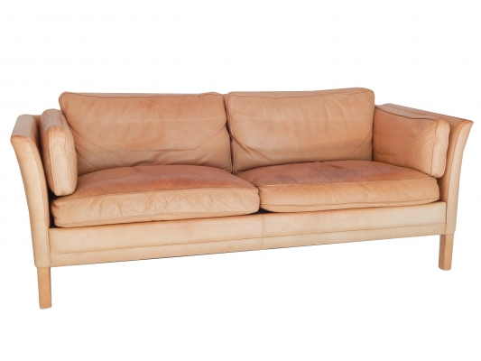 mid century modern leather couch. Mid-Century Modern Caramel Leather Sofa Mid Century Couch